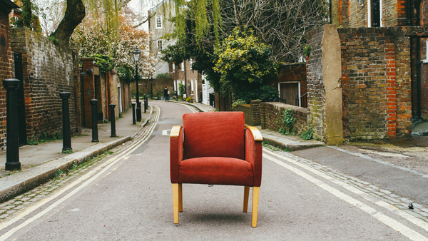 What is addiction - an armchair on the street